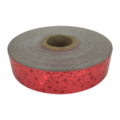 Holographic Star Tape, Red