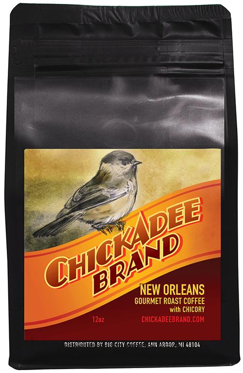 Chickadee Brand Organic Coffee with Chicory CB-G12