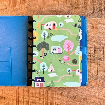 2019 Planner, Blue Leather Cover (Personal Size)