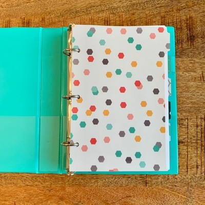 2019 Planner, Damask Mini-Binder (Personal Size)
