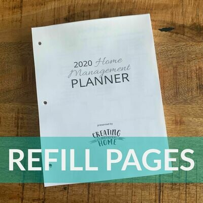 2020 HM Planner: REFILL PAGES