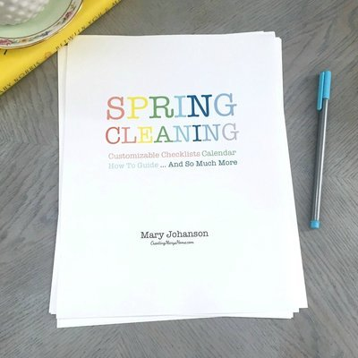 Spring Cleaning Pack: Calendar, Checklists, and More (customizable)