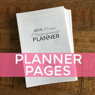2019 Home Management Planner: COMPLETE PAGES