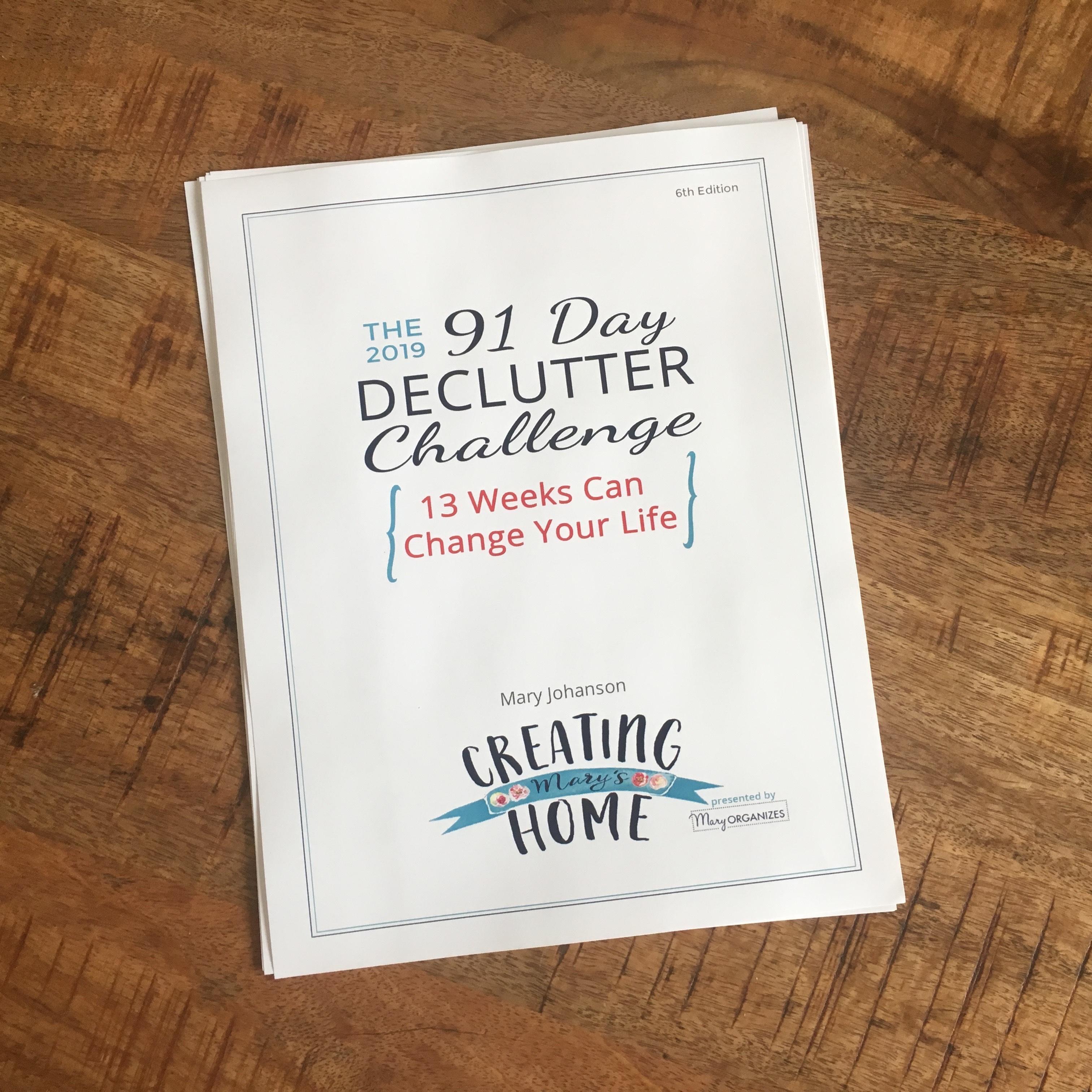 Declutter Challenge: Printable Guide & Calendar Digital Download 00172