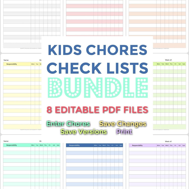 Kids Chore List Bundle (NEW lists added!)