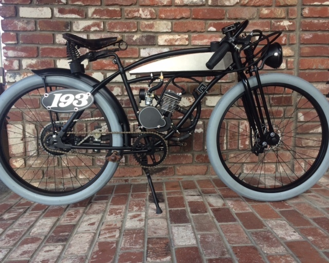 Motorized Bicycle Reproduction Board Track Racer Sutter Street