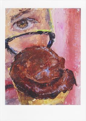 'Eyeing Chocolate Sorbet' Notecard