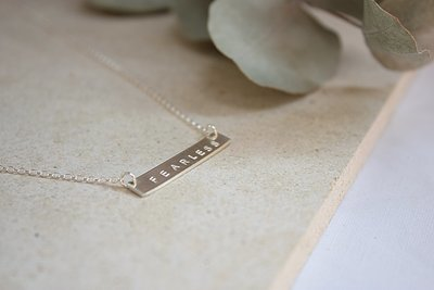 Sterling Silver Bar Necklace ★