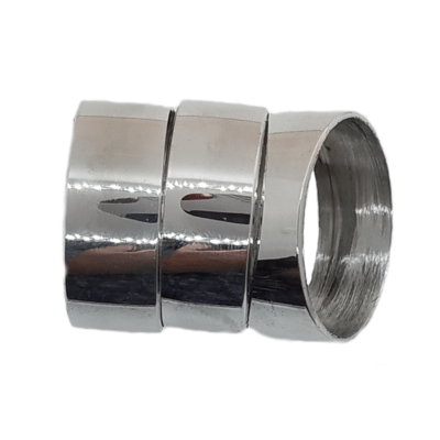 Polished Aluminum Hunting and Game Call Band 3 Pack