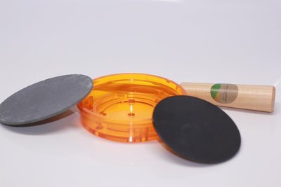 Turkey Pot Call Kit Slate/Polymer (Amber) Build Your Own with Free Striker