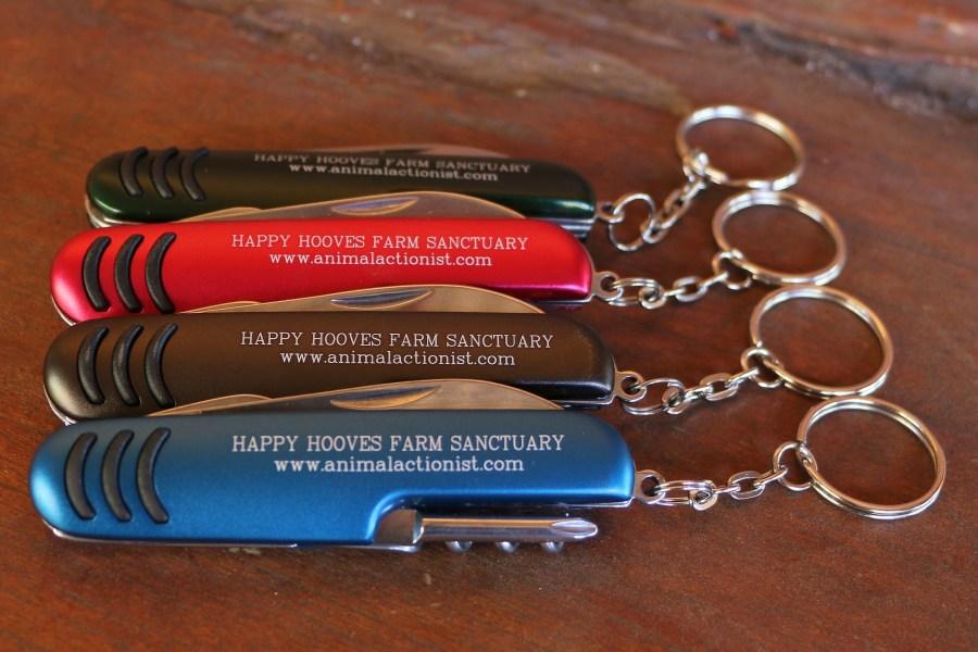 Happy Hooves Pocket Knife Keyring 00031