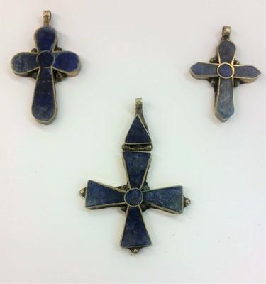Cobalt Gold Trimmed Cross