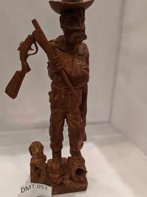 Carved Wooden Cowboy