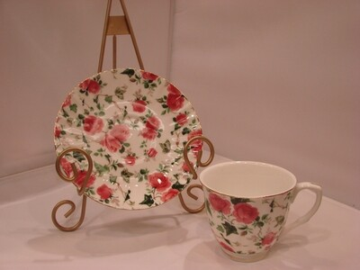Tea for Two: Two Tea Cups and Saucers and Tea Sampler
