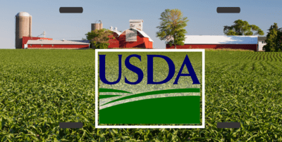 License Plate Farm Scene with USDA Logo