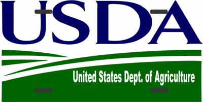 License Plate USDA Logo