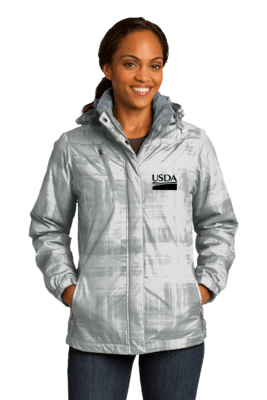 Port Authority® Ladies Brushstroke Print Insulated Jacket