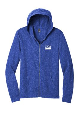 District Unisex Medal Full-Zip Hoodie