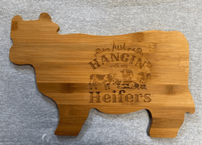 Bamboo Cow Shape Cutting Board