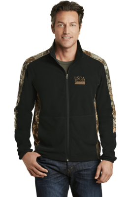 Realtree Camouflage Microfleece Full-Zip Jacket