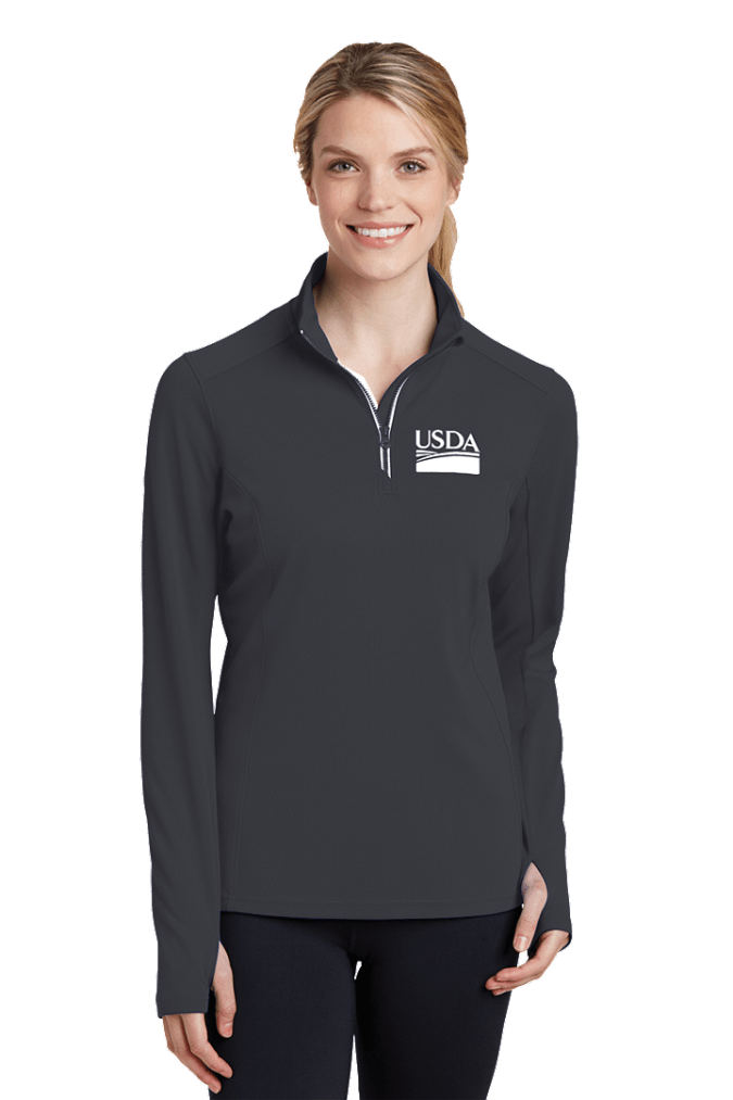 Ladies Sport-Wick Textured 1/4-Zip Pullover LST860