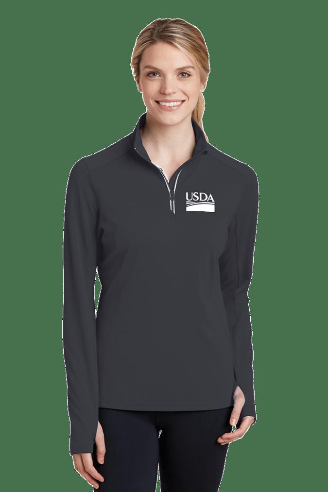 Ladies Sport-Wick Textured 1/4-Zip Pullover LST860