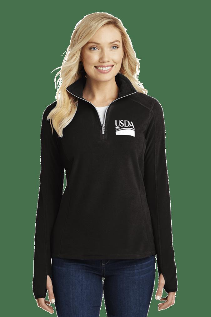 Ladies' Half-Zip Microfleece Pullover