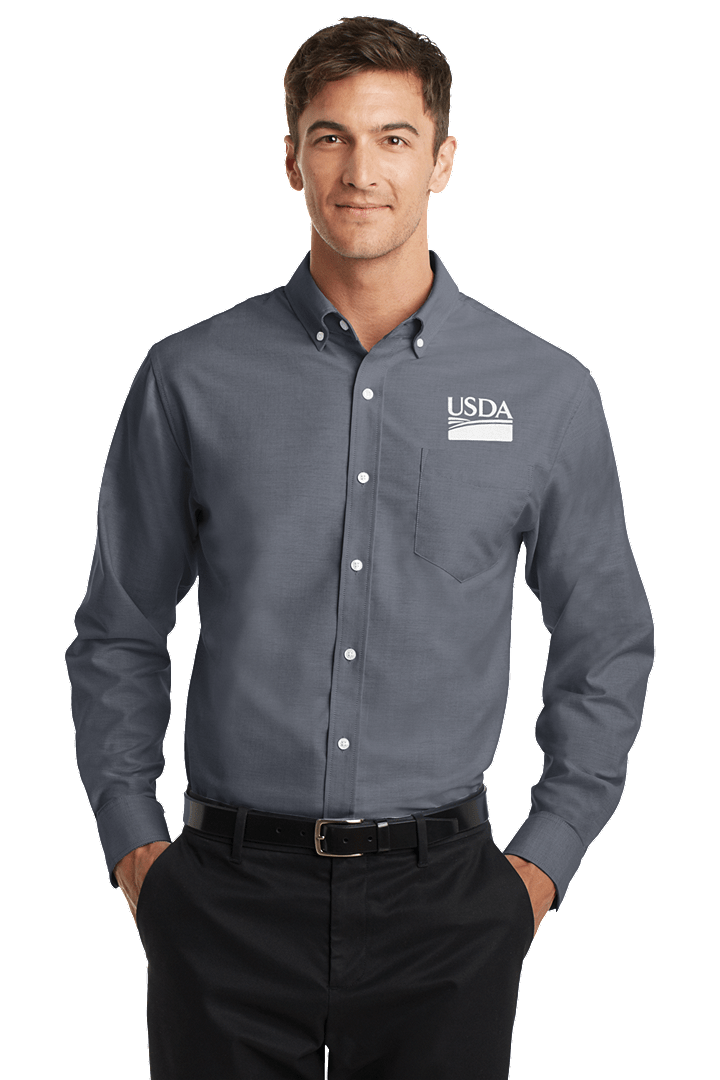 Men's Long Sleeve Oxford Dress Shirt