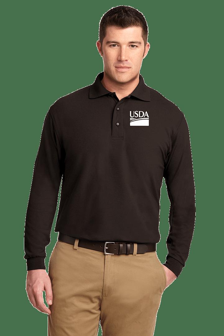 Tall Silk Touch Long Sleeve Polo Shirt