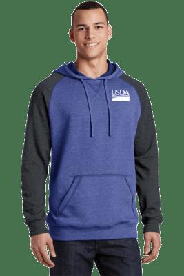 Unisex Lightweight Fleece Raglan Hoodie