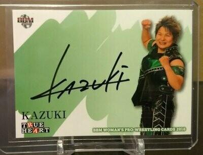 KAZUKI 2018 BBM Joshi True Heart Autograph /90
