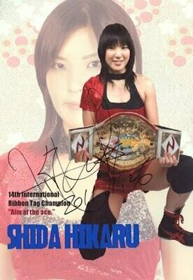 Hikaru Shida Signed Photograph (A4 Size)
