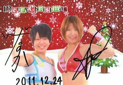 Ayumi Kurihara and Mika Iida Signed Photograph (A4 Size)
