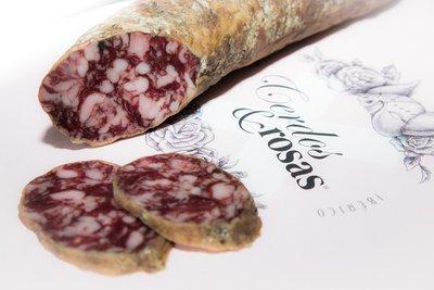 Cerdos y Rosas: Salchichón Ibérico de Bellota. Peso aproximado 1,2kg