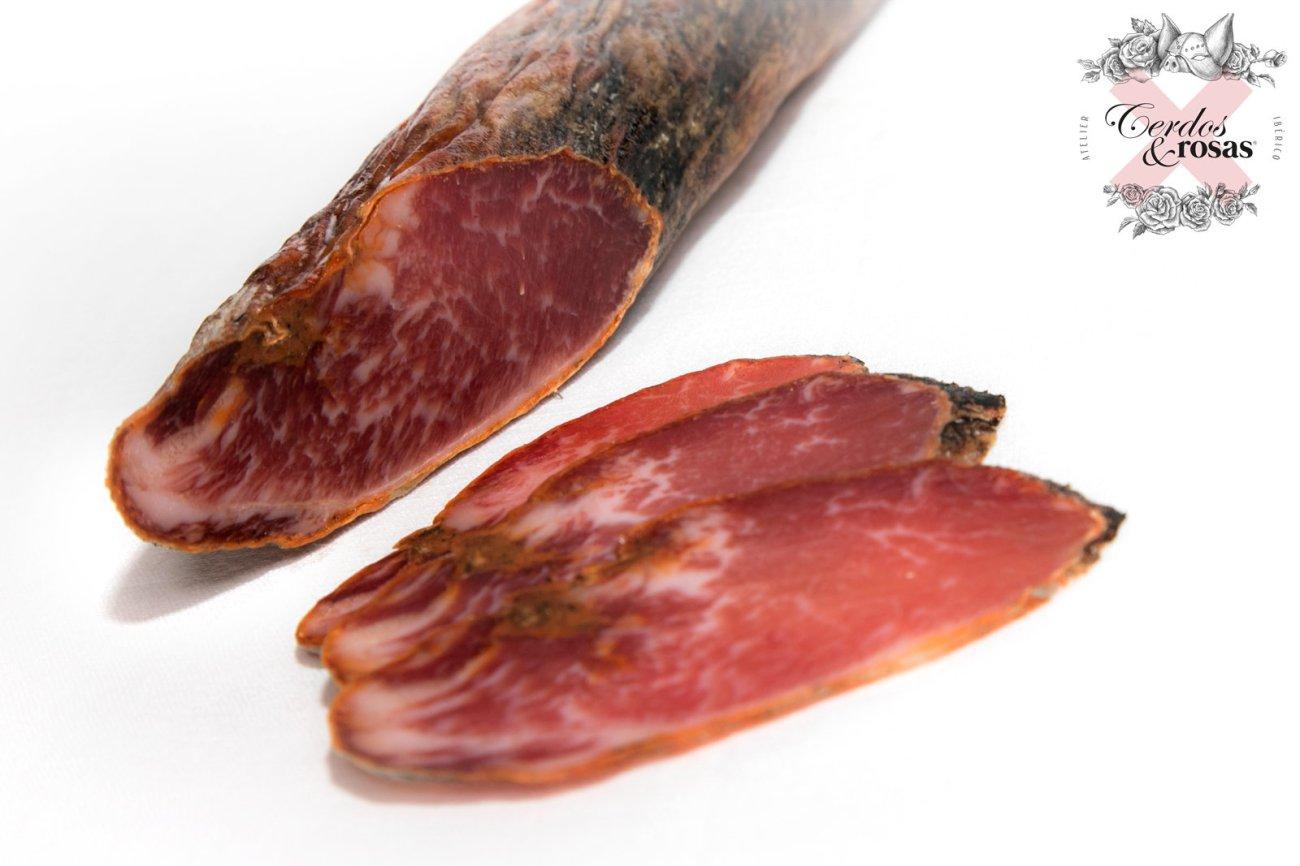 Cerdos y Rosas: Lomo Ibérico de Bellota. Peso aproximado 1,250kg CR-Lo-Ib-Be-01