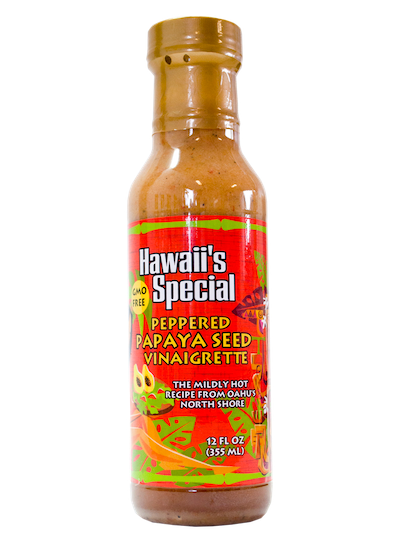 Peppered Papaya Seed Vinaigrette - GMO Free, 12 oz