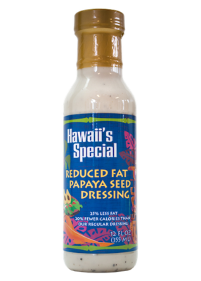 Reduced Fat Papaya Seed Dressing, 12 oz