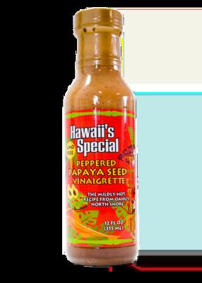 Peppered Papaya Seed Vinaigrette - GMO Free, 12 oz