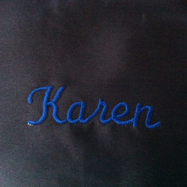 Embroidery and monogram service free on our sumptuous dark blue pillowcases  (up to 25 characters).