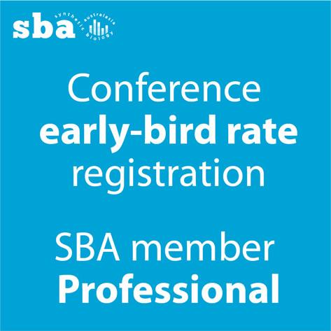 Professional SBA member discount conference registration
