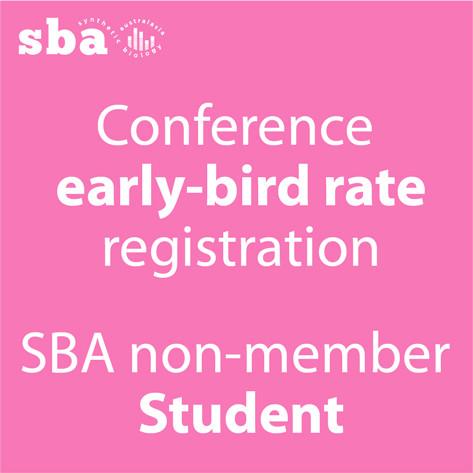 Student non-member Conference Registration