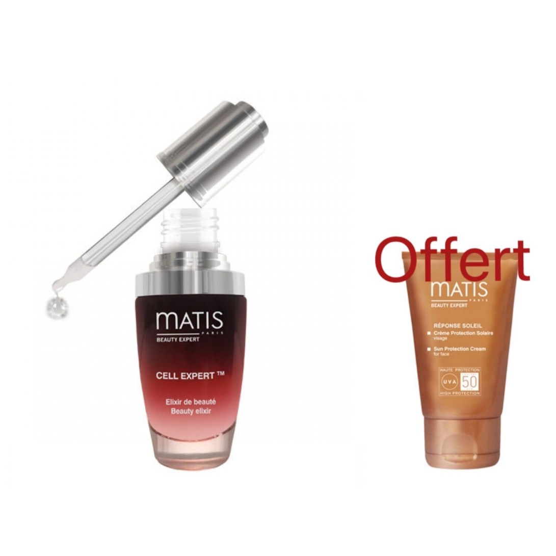 COFFRET PROTECTION CELLULAIRE -  CELL EXPERT 30ML+ CREME PROTECTION SOLAIRE FPS50 OFFERTE