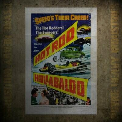 Hotrod Hullabaloo Vintage Movie Poster