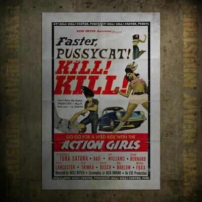 Faster Pussycat! Kill! Kill! Vintage Movie Poster