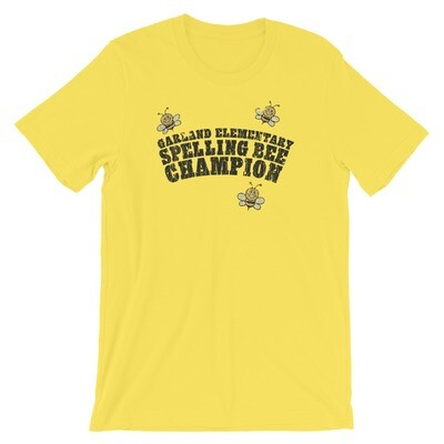Garland Elementary Spelling Bee Champion Vintage T-Shirt