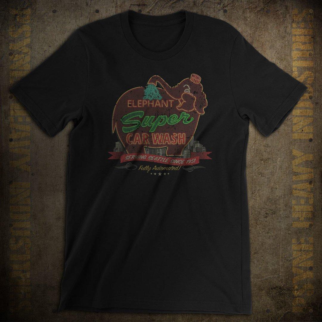 Elephant Super Car Wash Vintage T-Shirt