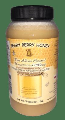 1 kg Pure Alberta Creamed Honey - Plain