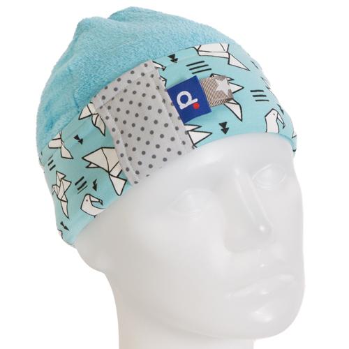 Bonnet garçon polaire bleu clair motifs origami 3-6 ans BO-17015-M