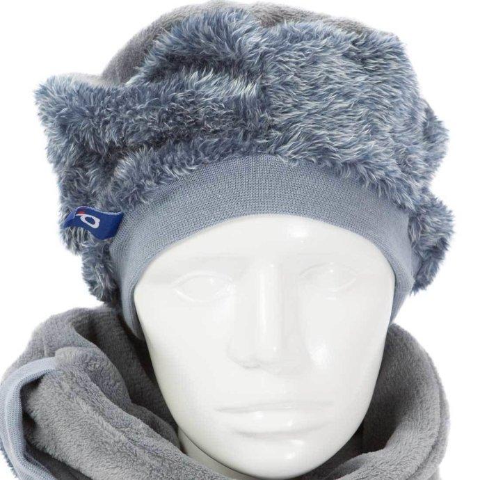 Béret femme en polaire douce et chaude bleu BF-18009-XL