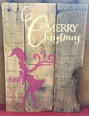 Pallet Sign - Merry Christmas